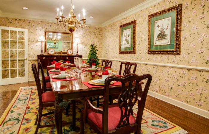 Private dining space