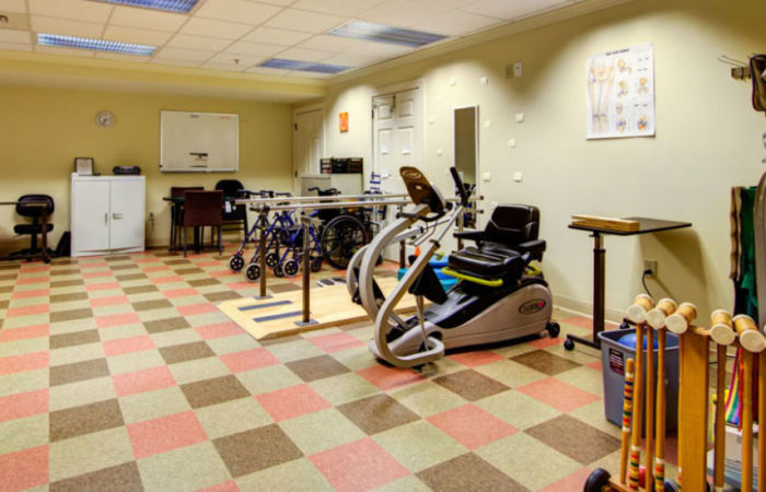 Fitness and therapy room