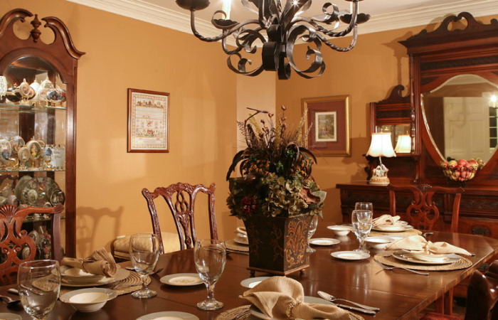 Formal private dining room